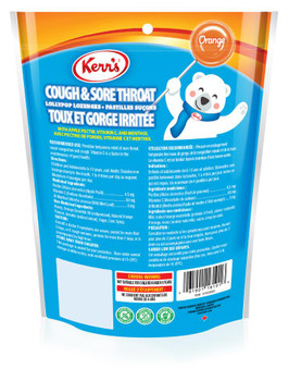 Kerr's Cold and Sore Throat Lollypop Orange Lozenges, 12ct, 12pk, Imported from Canada}