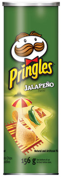 Pringles Jalapeno Flavour Potato Chips (Pack of 14), 156g/5.5oz., {Imported from Canada}