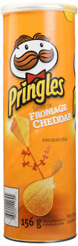 Pringles Cheddar Cheese Potato Chips, 156g/5.5oz, 14 Pack, (Imported from Canada)