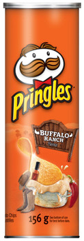 Pringles Buffalo Ranch Potato Chips, 156g/5.5oz, (Pack of 14),{Imported from Canada}
