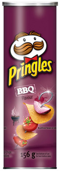 Pringles BBQ Flavour Potato Chips, 156g/5.5oz, (Pack of 14), {Imported from Canada}