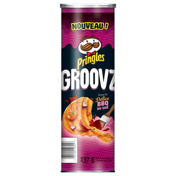 Pringles Groovz Tangy Southern BBQ Chips, 137g/4.8oz (8 Pack) (Imported from Canada)
