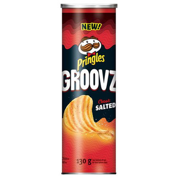 Pringles Groovz Classic Salted Potato Chips, 130g/4.6oz, (8 Pack), {Imported from Canada}