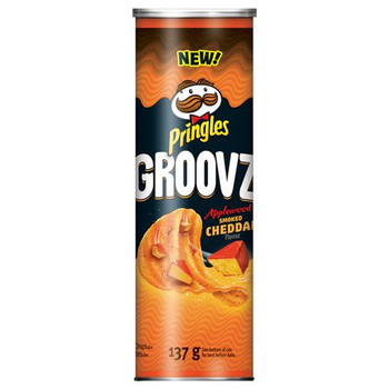 Pringles Groovz Applewood Smoked Cheddar, 137g/4.8oz. (8 Pack) (Imported from Canada)