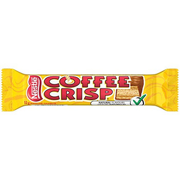 Canada Candy Coffee Crisp Chocolate Bar 4 x 50gram Bars. {Imported from Canada}