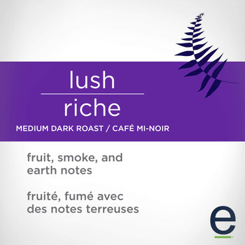 Ethical Bean Coffee Lush, Medium Dark Roast, Ground, 227g/8oz., Bag, {Imported from Canada}