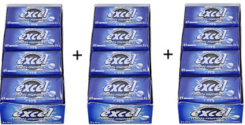 Excel Sugar-Free Mints, 34gm Tins, 8 Count, 3pk., (Winterfresh) {Imported from Canada}
