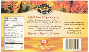 L B Maple Treat,Gluten Free, Maple Sugar Candies, 105g/3.7oz., {Imported from Canada}