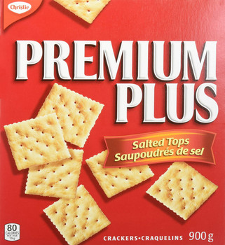 Christie Premium Plus, Crackers with Salted Tops,900g/2 lbs., {Imported from Canada}