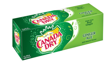 Canada Dry Ginger Ale, 12 Count, 355 ml - {Imported from Canada}