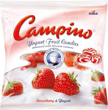 Campino Yogurt & Fruit Hard Candies - Strawberry - (120g/4.2oz) - pack of 2 {Imported from Canada}