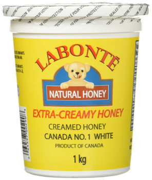 Labonte Pure & Natural Extra Creamy Honey, (1kg/2.2lbs.) {Imported from Canada}