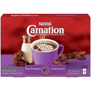 Carnation Hot Cocoa Chocolate Marshmallow (10ct x 25g) {Imported from Canada}