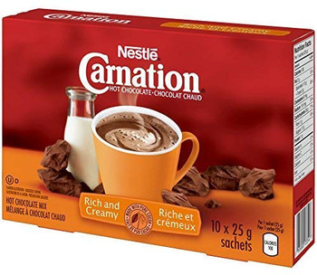 Carnation Hot Chocolate, Rich and Creamy, (10ct x 25g) sachets, {Imported from Canada}