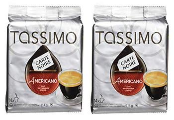 Tassimo Carte Noire Americano Coffee, Single Serve 14 T-Discs, 114g (2pk) {Imported from Canada}