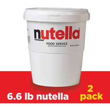 Nutella Chocolate Hazelnut Spread, Bulk Size for Food Service (3kg) 6.6 lb Tubs, 2pk {Imported from Canada}