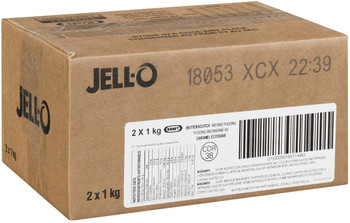Jell-O Butterscotch Instant Pudding, 1kg/2.2lbs., 2pk {Imported from Canada}