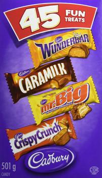 Cadbury Halloween Treats Chocolate, 45ct Wunderbar, Mr. Big, Caramilk, Crispy Crunch {Imported from Canada}