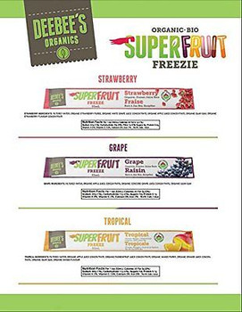 Deebee's Organics  Superfruit Freezie Juice Bars 12x53ml{Imported from Canada}