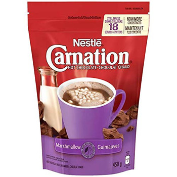 Nestle Carnation Hot Chocolate Marshmallow Cocoa, 450g/15.9oz, (Imported from Canada)