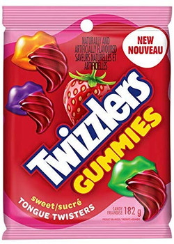 Twizzlers Gummies Sweet Tongue Twisters Candy, 182g (10pk) {Imported from Canada}