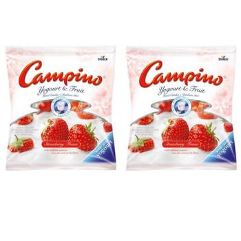 Campino Yogurt & Fruit Hard Candies (2pk) Strawberry - (120g/4.2oz per BAG)