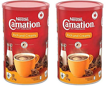 CARNATION Nestle Rich and Creamy Hot Chocolate, 1.7kg/3.7lbs, Canister, (2pk) {Imported from Canada}
