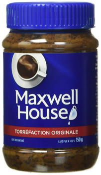 MAXWELL HOUSE Original Instant Coffee, 150g/5.3 oz., {Imported from Canada}