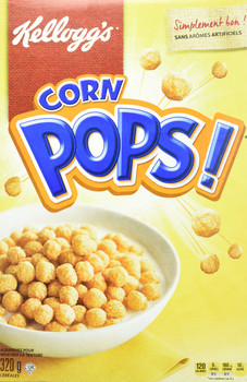 Kellogg's Corn Pops Cereal 320g/11.3 oz., {Imported from Canada}