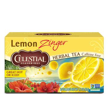 Celestial Seasonings 100% Natural Lemon Zinger Herbal Tea 20 ct {Imported from Canada}