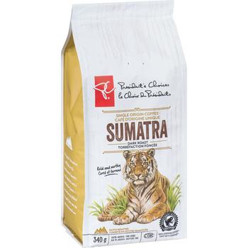PC 100% Sumatran Dark Roast Coffee 340g/12 oz {Imported from Canada}