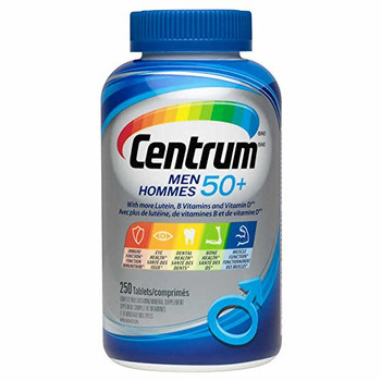 Centrum Multivitamin/mineral for Men 50+, 250 Tablets {Imported from Canada}