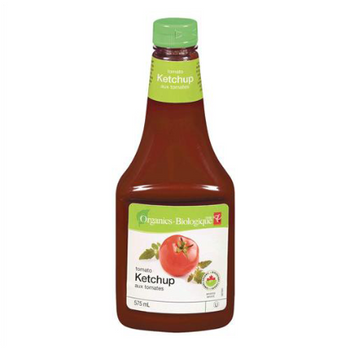 PC Organics Tomato Ketchup 575ml/19.4 oz., {Imported from Canada}