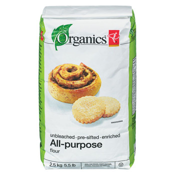 PC Organics Unbleached All-Purpose Flour 2.5kg/5.5 lbs. {Imported from Canada}