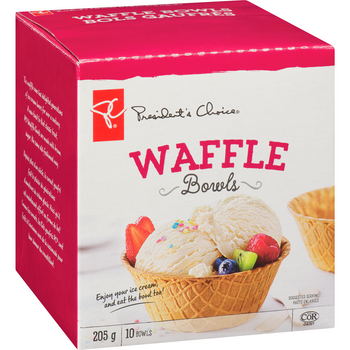PC ICE Cream Cone Waffle Cone Bowls - (10ct) 205g/7.2 oz {Imported from Canada}