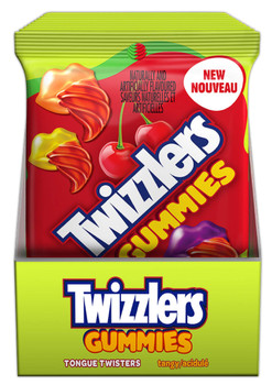 Twizzlers Gummies- Tangy Tongue Twisters Candy, 182g/6.4 oz. (10ct) {Imported from Canada}