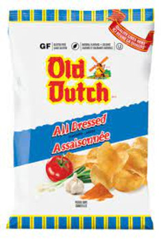 Old Dutch Potato Chips, All Dressed, 40g/1.4oz - 40 Pack {Imported from Canada}