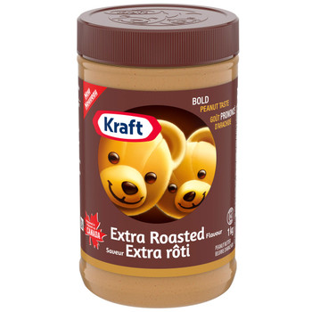 Kraft Extra Roasted Peanut Butter, 1kg/2.2 lbs {Imported from Canada}