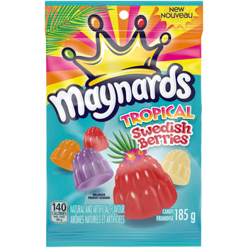 Maynards Gummy Tropical Swedish Berries 185g/6.5 oz., {Imported from Canada}