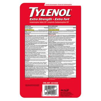 Tylenol Extra Strength 390ct eZ tabs, {Imported from Canada}