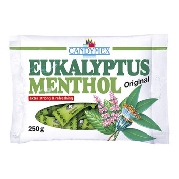 Candymex Original Menthol Eucalyptus Extra Strong and Refreshing 250g/8.8 oz. Bag {Imported from Canada}