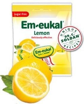 Em-eukal Sugar-Free Lemon Candy 50g/1.8oz., {Imported from Canada}