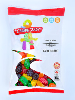 Canada Candy, Sour Ju Jubes Gummies, 2.5kg/5.5lbs, {Imported from Canada}