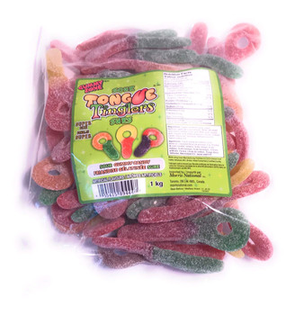 Gummy Zone Sour Tongue Tinglers 1kg (2.2lbs) {Imported from Canada}