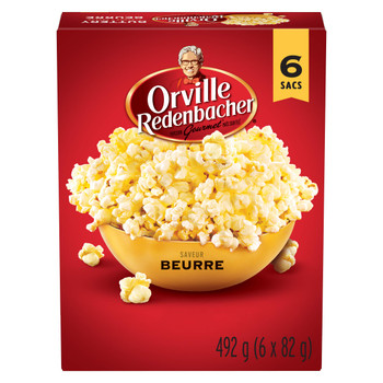 Orville Redenbacher's Buttery Flavor Popcorn, 492g/17.4oz Box, (6ct x 82g) {Imported from Canada}