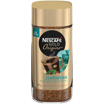 NESCAFE Gold Origins Sumatra Coffee Jar, 95g/3.4 oz {Imported from Canada}