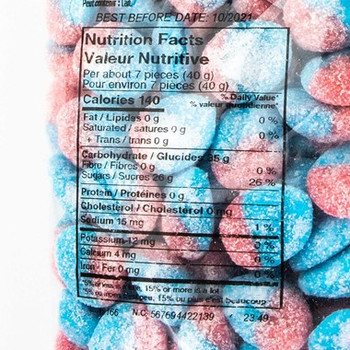Juby Blue Raspberry Slice Gummies 2.5kg/5.5 lbs {Imported from Canada}