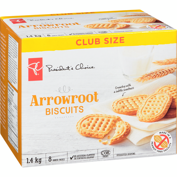 PC Arrowroot Cookies, Club Pack, 1.40 kg/3.1 lb Box, {Imported from Canada}