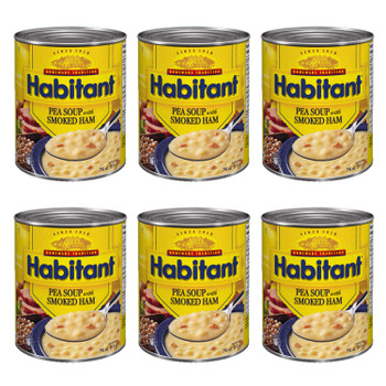 Habitant Pea Soup with Smoked Ham (796ml/28 fl. oz.) 6pk {Imported from Canada}
