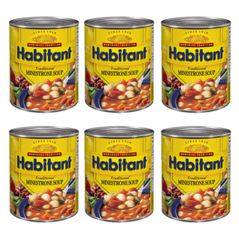 Habitant Traditional Minestrone Soup 796ml/28 fl. oz. 6-Pack {Imported from Canada}